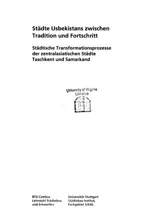 St  dte Usbekistans zwischen Tradition und Fortschritt PDF