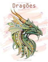 Livro para Colorir de Dragões para Adultos 1 & 2