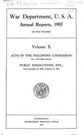 Acts of the Philippine Commission: Issue 1539, Part 1800