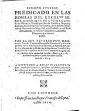 Sermones funebres predicados Dominica infra octaua de todos Stos de 1624 ... en la prouincia del andalucia del Orden de la ssma. trinidad de Redemptores en las honras de ... enrique de gusman, Conde de Olivares ... y demas progenitores que son en gloria ...