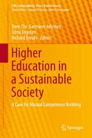 Higher Education in a Sustainable Society PDF