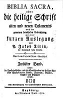Biblia Sacra  oder die heilige Schrift des alten und neuen Testamentes PDF