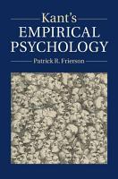 Kant s Empirical Psychology PDF