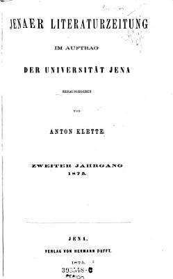 Jenaer Literaturzeitung PDF