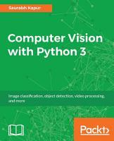 Computer Vision with Python 3 PDF