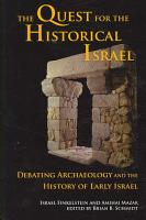 The Quest for the Historical Israel PDF