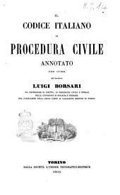 Il Codice italiano di procedura civile annotato per cura del cavaliere Luigi Borsari