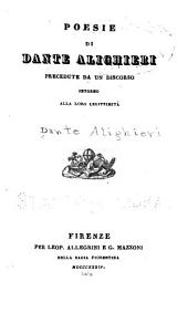 Opere minori di Dante Alighieri ...