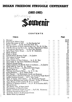 Indian Freedom Struggle Centenary  1857 1957 PDF