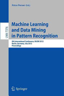 Machine Learning and Data Mining in Pattern Recognition PDF