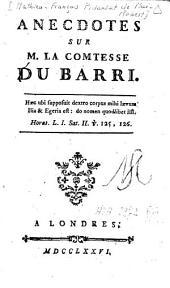 Anecdotes sur M. la Comtesse Du Barri