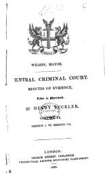 Central Criminal Court Minutes Of Evidence Book PDF