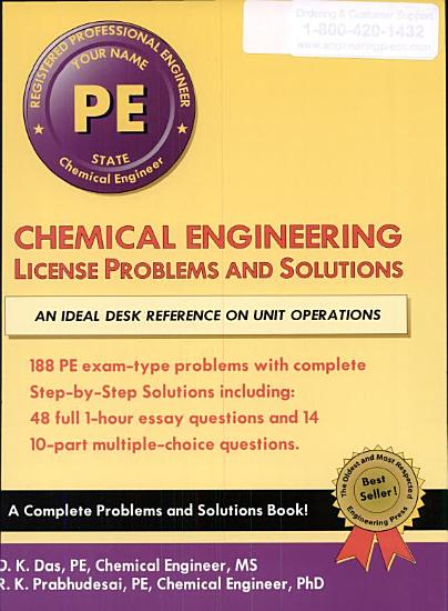 Chemical Engineering License Problems and Solutions PDF