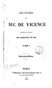 Souvenirs du Duc de Vicence
