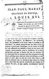 Jean-Paul Marat à Louis XVI