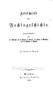 Zeitschrift für Rechtsgeschichte: Band 7