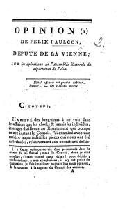 Opinion ... sur les opérations de l'Assemblée électorale du départment de l'Ain (floréal, an 7).