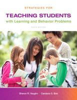 Strategies for Teaching Students with Learning and Behavior Problems PDF
