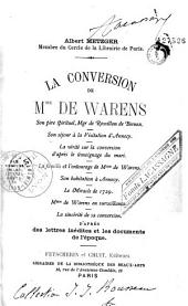 La conversion de Mme de Warens
