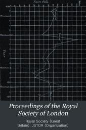 Proceedings of the Royal Society of London: Volume 22