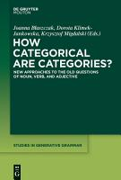 How Categorical are Categories  PDF