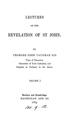 Lectures on the Revelation of st  John PDF