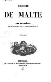 Histoire de Malte par m. Miège: Volume1