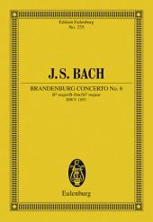 Brandenburg Concerto No. 6 Bb major: BWV 1051