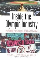Inside the Olympic Industry PDF