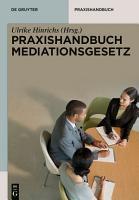 Praxishandbuch Mediationsgesetz PDF
