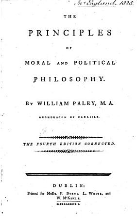 The Principles of Moral and Political Philosophy     The Fourth Edition Corrected PDF