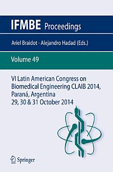 VI Latin American Congress on Biomedical Engineering CLAIB 2014  Paran    Argentina 29  30   31 October 2014 PDF