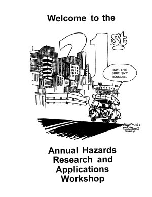 Hazards Research and Applications Workshop (1996)
