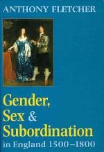 Gender, Sex, and Subordination in England 1500-1800