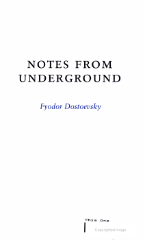 Notes from Underground PDF