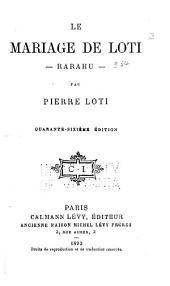 Le mariage de Loti: Rarahu