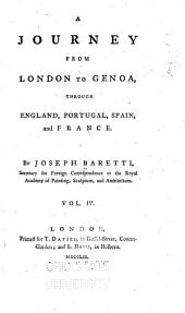 A Journey from London to Genoa: Through England, Portugal, Spain and France, Volume 4