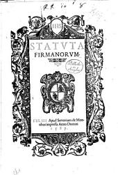 Statuta Firmanorum
