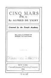 Cinq Mars: Volume 1