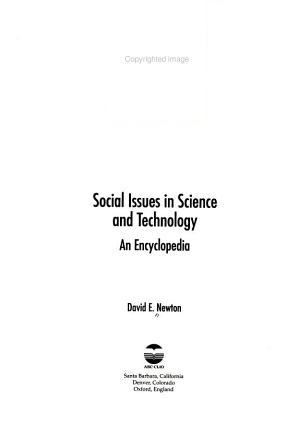Social Issues in Science and Technology PDF