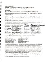SR 509/South Access Road Corridor Project, Cities of SeaTac, Des Moines, Kent, and Federal Way, King County: Environmental Impact Statement