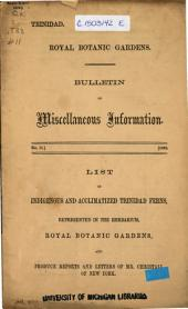 Bulletin of Miscellaneous Information: Volume 1, Issue 11
