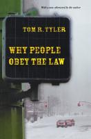 Why People Obey the Law PDF
