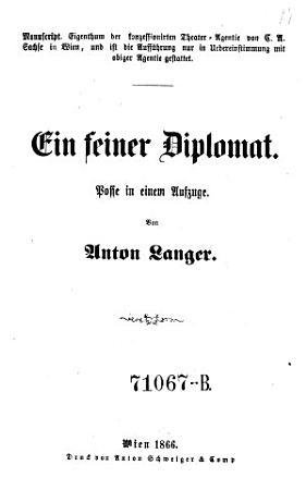 Ein    feiner Diplomat PDF