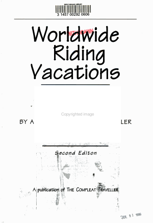 Worldwide riding vacations