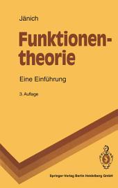Funktionentheorie: Eine Einführung, Ausgabe 3