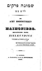 Acht hoofdstukken van Maimonides