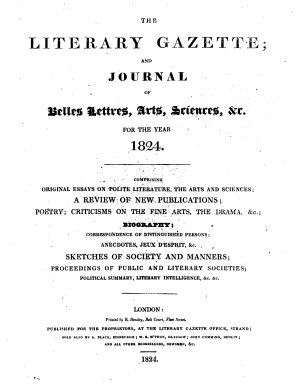 The Literary Gazette and Journal of Belles Lettres  Arts  Sciences PDF