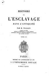 Histoire de l'esclavage dans l'antiquité: Volume3