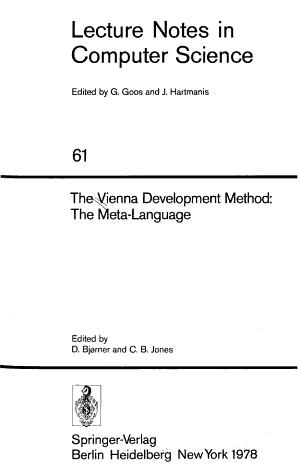 The Vienna Development Method